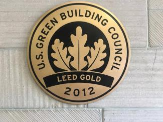 LEED Gold 2012 Plaque