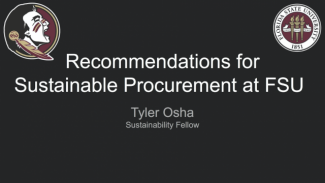 Tyler Osha Fellows project