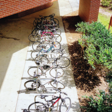 Locked Up Bikes Near Nursing School